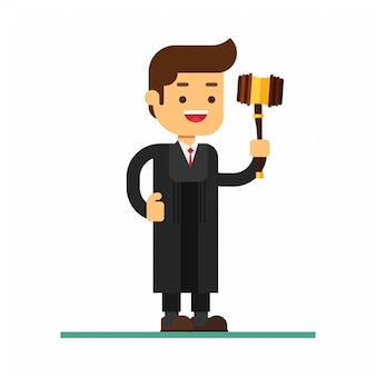 Man character avatar icon. the judge