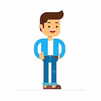 Man character avatar icon.man consists of a shirt and trousers