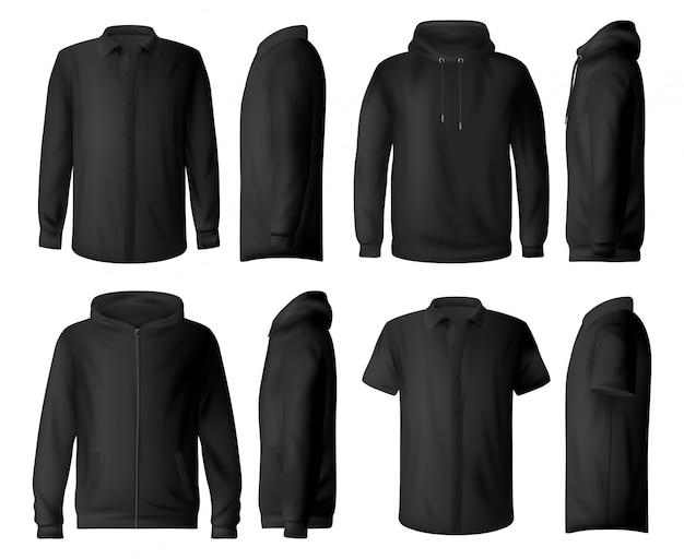 Man clothes, shirt and hoodie  mockups