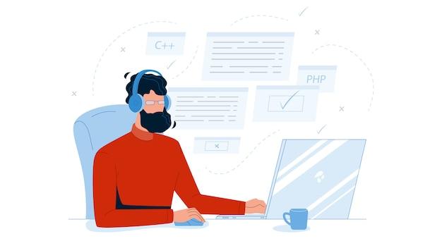 Man coder development programming computer