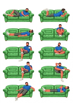 Man on couch set