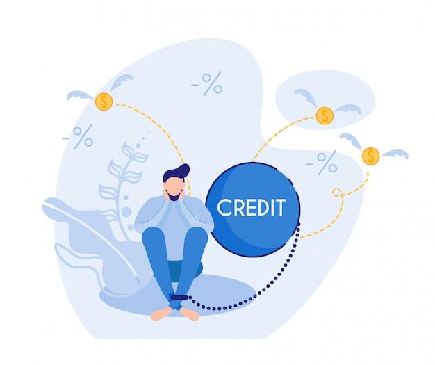 Человек, подавленный увеличенным долгом кредитной карты
