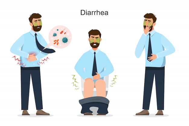 Man diarrhea cartoon character