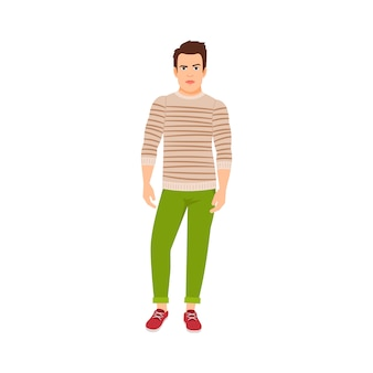 Man dressed in autumn style