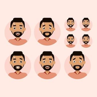 Эмоции человека с разными лицами иллюстрации