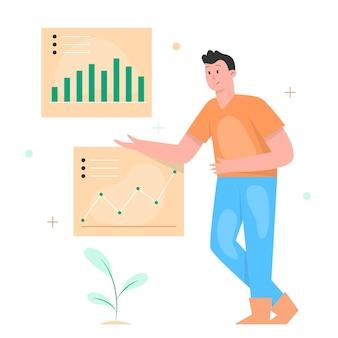 男性従業員の作業データ分析