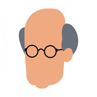 男の顔のないベクトルのイラストのグラフィックデザイン