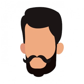 Man faceless head vector illustration graphic design