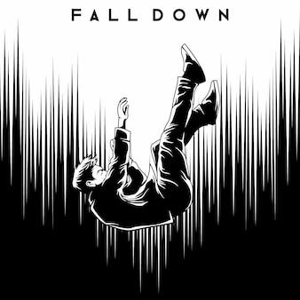 Man fall down illustration vector