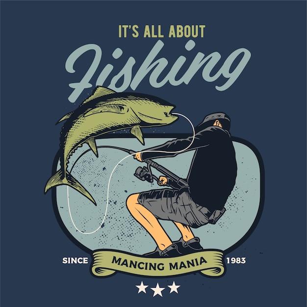 Человек на рыбалке