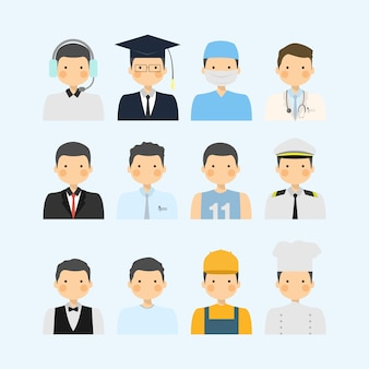 Man from the various different profession i