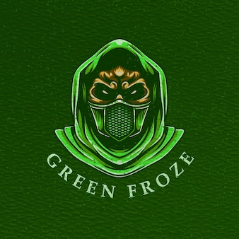 Man gas mask illustration for tshirt design