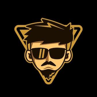 Man glasses mascot design