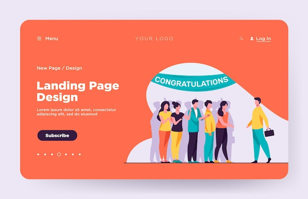 Man going to surprise party landing page