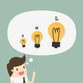 Man having ideas background