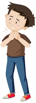 A man having sore throat