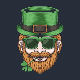Man head for st. patrick's day