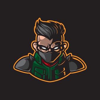 Man headmascot logo
