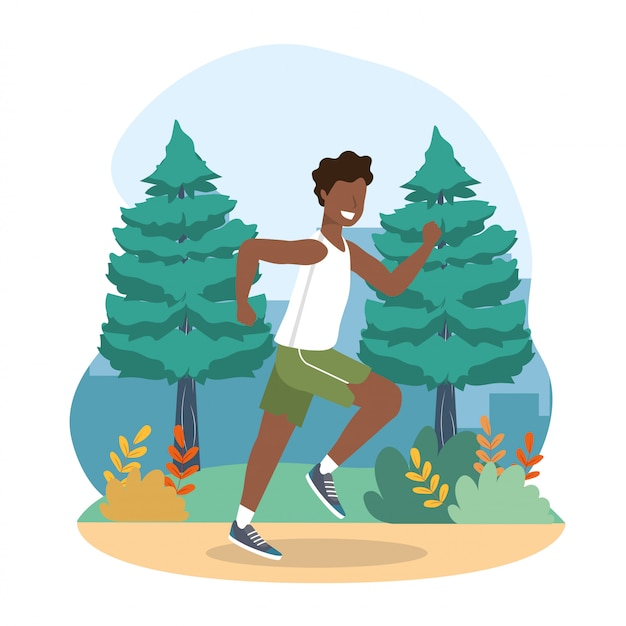 Man health exercise and running activity