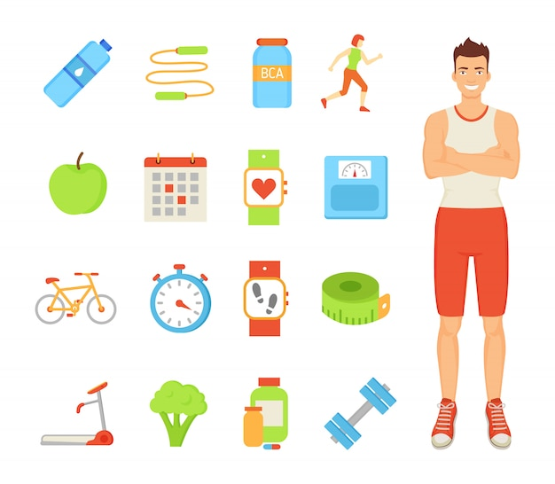 Man healthy lifestyle of male illustration