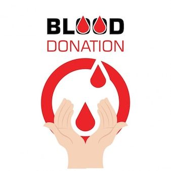 Man holding blood drop donation concept design
