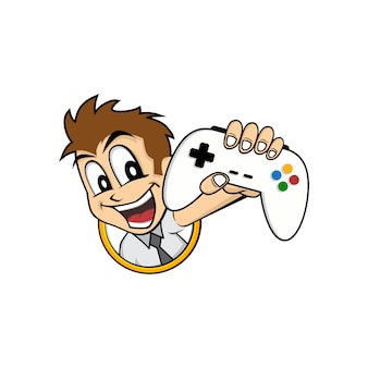 Man holding game console joystick controller