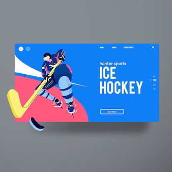 Man ice hockey player