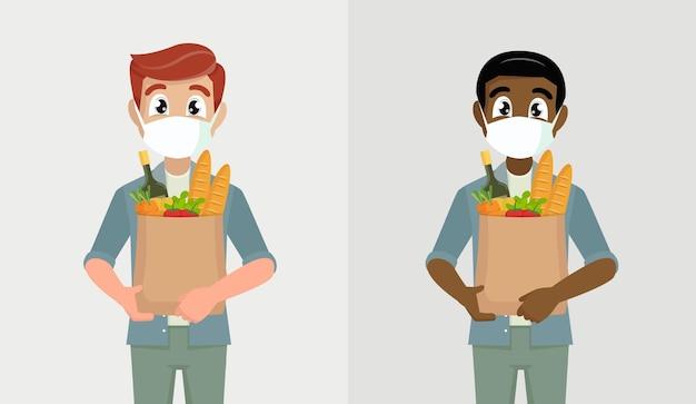 Мужчина в медицинской маске предотвратит распространение коронавируса