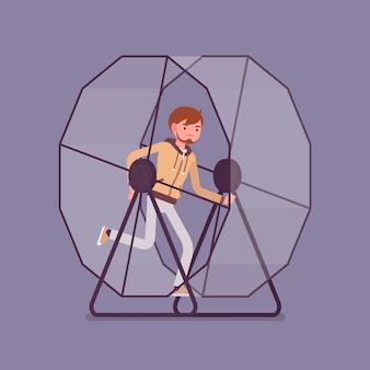 Человек в беговом колесе