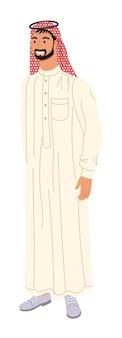 伝統的なアラビアの服を着た男