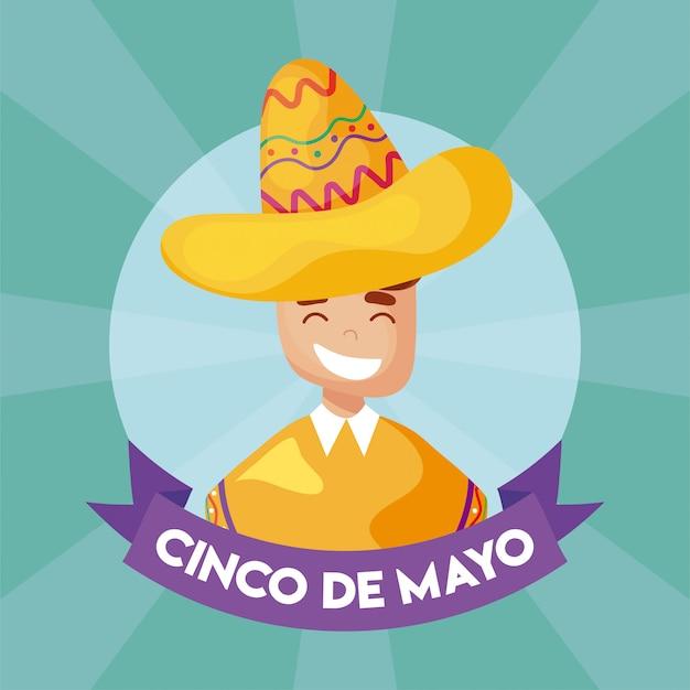 멕시코 전통 의상을 입은 남자, 친코 데 마요