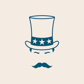 Мужчина в шляпе дяди сэма