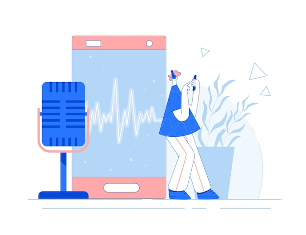 Man is listening podcast