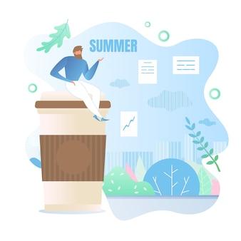 Человек ждет лето
