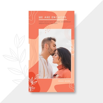 彼の妻のバナーテンプレートにキスする男
