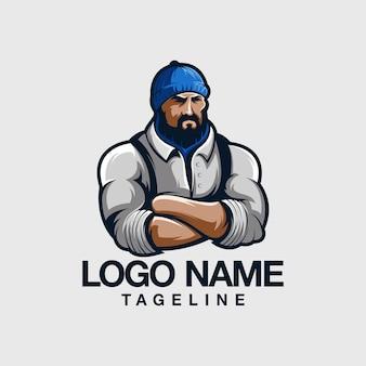 Man logo design