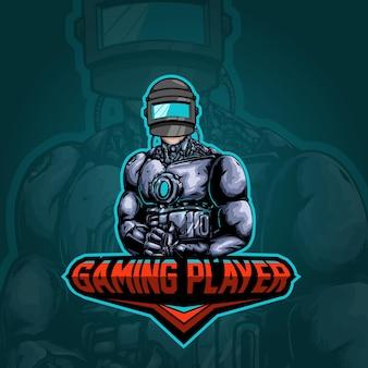 Человек логотип киберспорт иллюстрация
