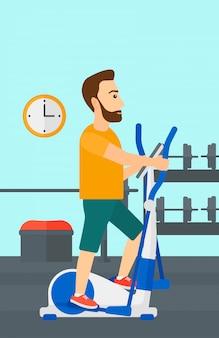 Man making exercises