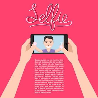 Man making selfie.