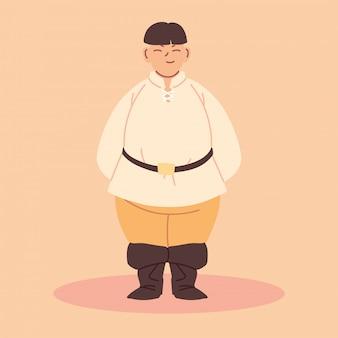男中世農民キャラクター、中世