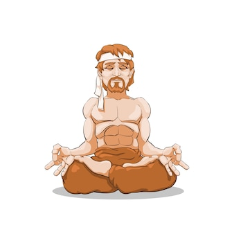 Man meditates