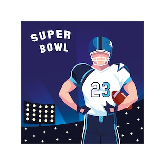 Man player american football with