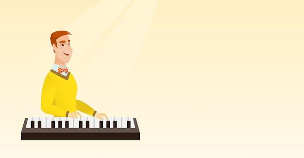 Человек играет на пианино