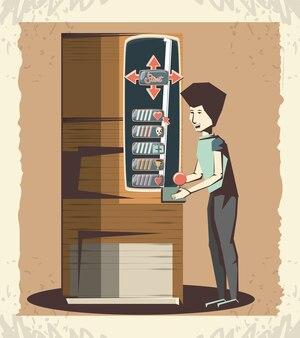 Человек, играющий в видеоигра