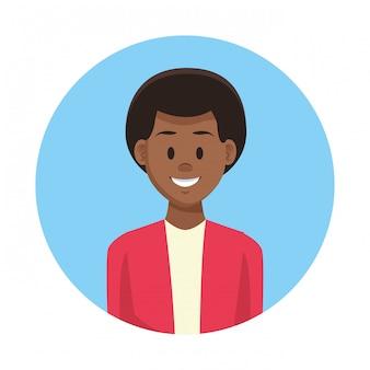 Man profile cartoon