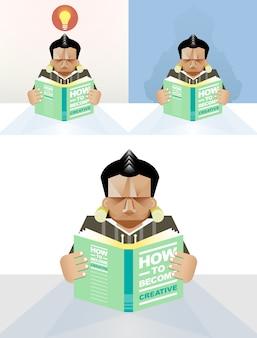 Человек читает книгу - концепция образования