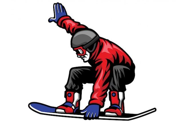 Человек катается на сноуборде и делает трюки