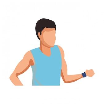Man running avatar