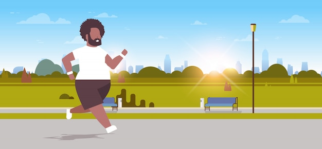 Man running   guy jogging outdoor city urban park  concept male character full length horizontal