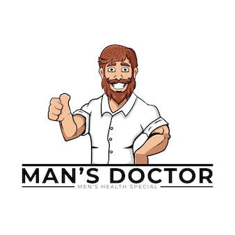 Мужской доктор логотип